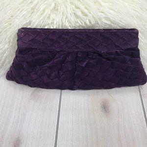 Lauren Merkin Purple Suede Clutch